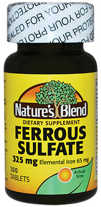 Ferrous Sulfate Iron 325 Mg Generic For Feosol 100 Tablets Pack Of 8 Walmart Com